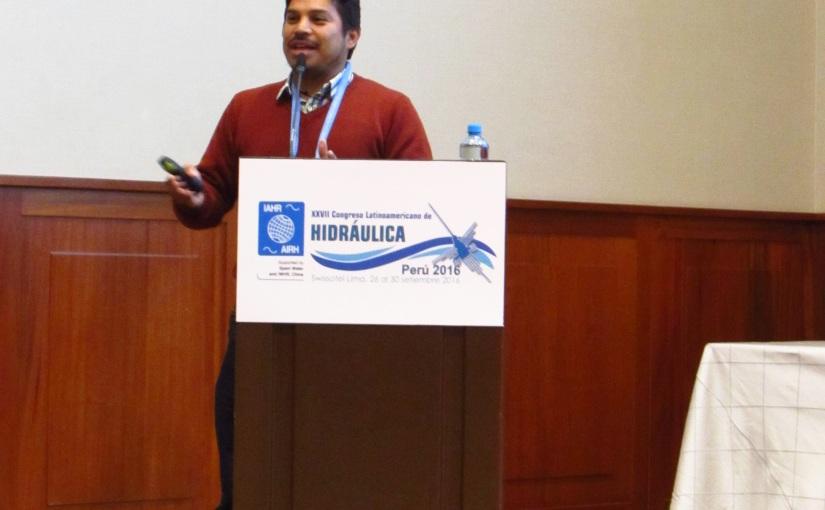 Participación en XXVII Congreso Latinoamericano de Hidráulica Perú2016