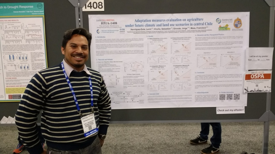 Lenín Henríquez en la American Geophysical Union (AGU) Fall Meeting 2016